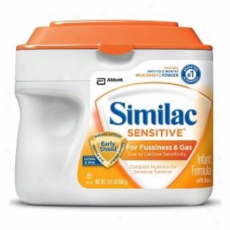 Similac Sensitive For Fussiness & Gas, Infanr Formula, Powdet