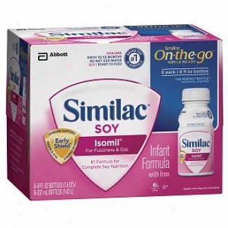 Similac Soy Isomil  Infant Formula, Readt To Feed, 8 Oz Bottles