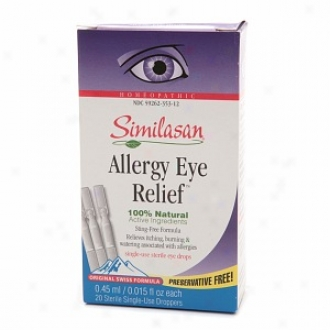 Similasan Allergy Eye Relieff Single-use Sterile Eye Drops (20 Sterile Single Use Droppers)