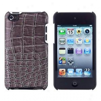 Simplism Japan Leather Cover Set For Ipod Touch 4th, Crovodile Gunmetal