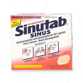 Sinutba Maximum Strength Non Drowsy Sinus, Coated Caplets