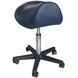 Sivan Heqlth And Fitness Pneumayic, Hydraulic Adjustable, Rolling Saddle Massage Stool, Black