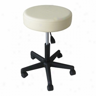 Sivan Health And Fitness Rolling Adjustable Stool For Massage Tables Medical Office And Close Treat, White