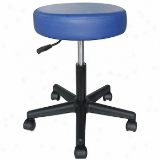 Sivan Health And Fitness Rolling Adjustable Stool For Massage Tables Medical Office And Home Use, Blue