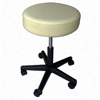 Sivan Health And Fitness Rolling Adjustable Stool For Massage Tables Medjcal Office And Home Use, Beige