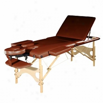 Sivan Health And Fitness Three Fold Reiki Portable Mqssage Table And Carrying Case