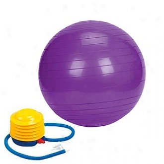Sivan Health And Fitness Yoga 26-inch Balance Ball With Foot Pump, Purple