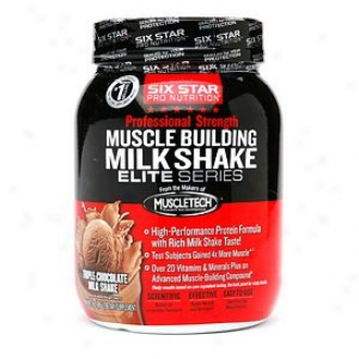 Six Star Professional Strength Muscle Building Milkshake, Triple Choclate