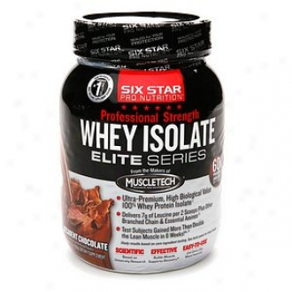 Six Star Professional Stregnth Whey Isolate Elite Series, Decadent Chocolate