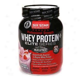 Six Star Professional Strength Whey Protein, Strawberry Cream Smoothie