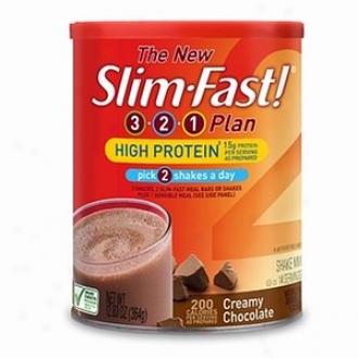 Slim-fast 3-3-1 Plan High Protein Shake Mix, Creamy Chocolate