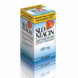 Slo-niacin Polygel Controllrd-r3lease Niacin, 500mg, Tablets