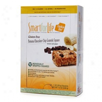 Smart For Life Cookie Diet, Gluten Free, Banana Chocolate Chip Grahola Perpendicular