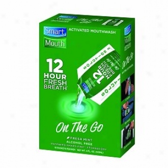 Smartmouth 12 Hour On-the-go Actifated Mouthwash  Packeta, Fresh Mint