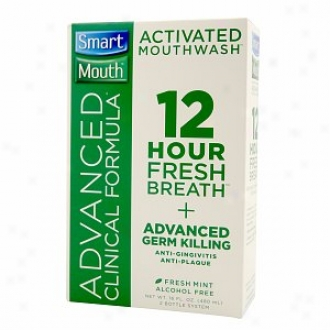 Smartmouth Advanced Clinucal Formula 12 Hour Activated Mouthwash, Fresh Mint