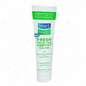 Smartmouth Advanced Clinical Formula Toothpaste With Fluoride, Fresh Mint