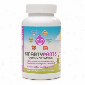 Smartypants All-in-one Gummy Multi-vitamins Plus Omega-3 And Vitamin D For Kids