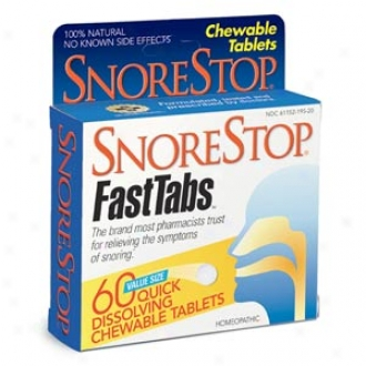 Snorestop Homeopathic Anti-snoring Fasttabs
