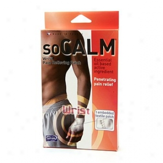 Socalm Pain Relieving Patch, Wrist, Size 3:  8.1  - 10 Inch