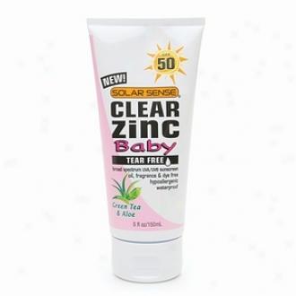 Solar Sense Clear Zinc Advanced Sun Protection For Baby, Spf 50, Green Tea & Aloe