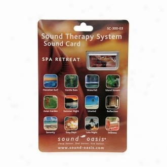 Sound Oasis Spa Retreat Sound Card For The Sound Therapy System S-650
