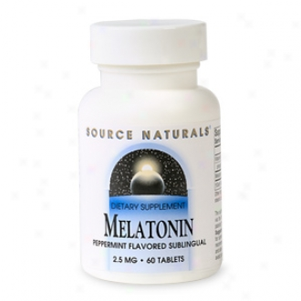 Source Naturals Melatonin,  2.5mg Peppermint Flavored Sublingual, Tablets