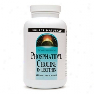 Source Naturals Phosphatidyl Cholime In Lecithin 420 Mg, Softgels