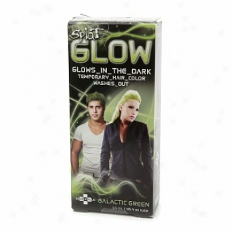 Splat Glow Temporary Hair Color -  Glows In The Dark!, Galactic Green