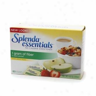 Splenda Essentials No Caloie Sweetener With 1 Gram Of Fiber, Packets