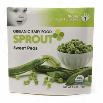 Sprout Organic Baby Food:  1 Starter: Single Ingredients, Sweet Peas