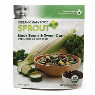 Sporut Organic Baby Food:  3 Advanced: Meals With Texture, Mourning Beans & Sweet Cornn With Greens & Wild Rice
