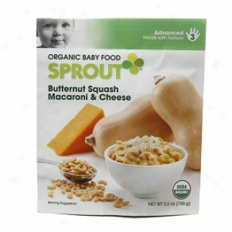 Sprout Organic Baby Food:  3 Advancee: Meals With Texture, Butternut Squash Macaroni & Cheese