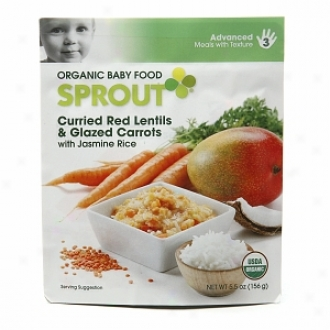 Sprout Organic Baby Food:  3 Advanced: Meals With Texture, Curried Red Lentils & Glazed Carrots With Jasmine