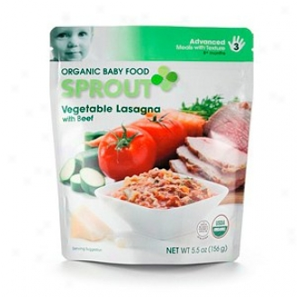 Sprout Radical Baby Food:  3 Advanced: Meals With Texture, Vegetable Lasagna With Beef