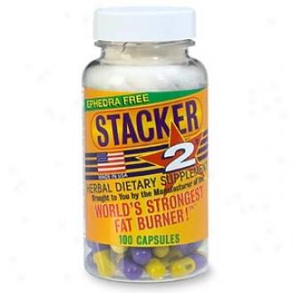 Stacker 2 Ephedra-fres World's Strongest Fat Burner, Capsules