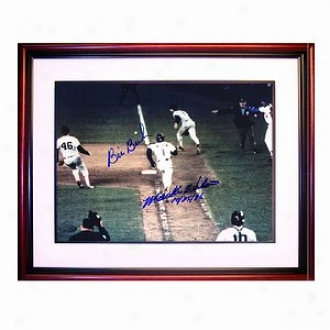 Syeiner Sports Mets/red Sox 86 Worrld Succession Mookie Wilson/bill Buckner Dual Autograph Photo