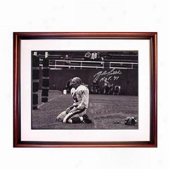 Steiner Sports Y.a. Tittle Anguish Of Defeat Autograph Inscription Hof 71 8x10 Photo