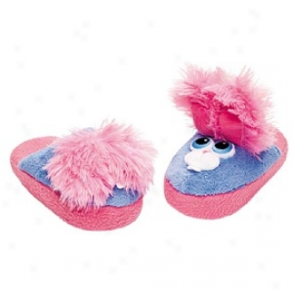 Stompeez Bee Bop Bunny Slippers Small Kids/tweens, Medium - Usa Size 11.5-4