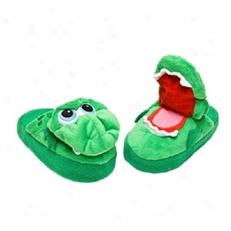 Stompeez Growling Dragon Slippers Walkers/toddlers, Small - Usa Size 5-11