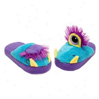 Stompeez One Eyed Monster Slippers Small Kids/tweens, M3dium - Usa Size 11.5-4