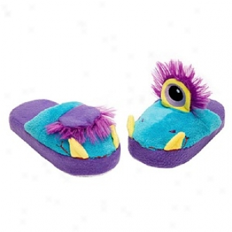 Stompeez One Eyed Monster Slippers Walkers/toddlers, Small - Usa Size 5-11