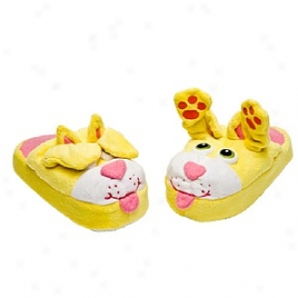 Stompeez Peek-a-boo Kitty Slippers Small Kids/tweens, Medium - Usa Size 11.5-4