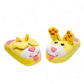 Stompeez Peek-a-boo Kitty Slippers Walkers/toddlers, Small - Usa Size 5-11