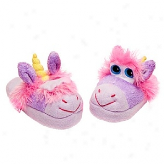 Stompeez Unusual Unicorn Slippers Small Kids/tweens, Meduim - Usa Sizing 11.5-4