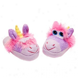 Stompeez Unusual Unicorn Slippers Walkers/toddlers, Feeble - Usa Siez 5-11