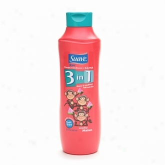 Suave For Kids 3-in-1 Shampoo, Conditioner & Body Wash, Wacky Melon