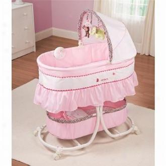 Summer Infant Carte5's Jungle Jill Cradle Me Soothing Bassinet, Pink