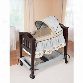 Summer Infant Carter'a Low Classic Comforrt Wood Bassinet, Whisper