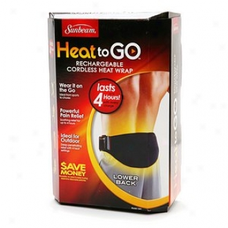 Sunbeam Heat To Go Rechargeable Cordless Heat Wrap, Back