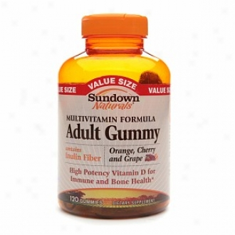 Sundown Naturals Multivitamin Adult Gummy, Orange, Cherry & Grape